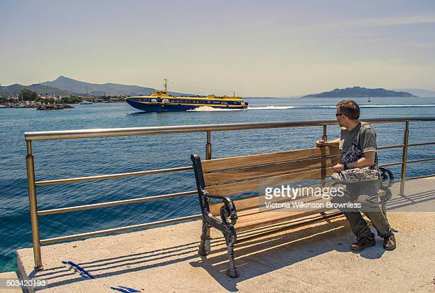 CONTENT] Hydrofoil ferry coming into port at Aegina Aegina is one of the Saronic Islands of Greece in the Saronic Gulf 17 miles from Athens Because...