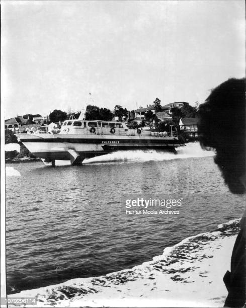 Hydrofoil on Gladesville run supposedly causing damage to the shore June 22 1973