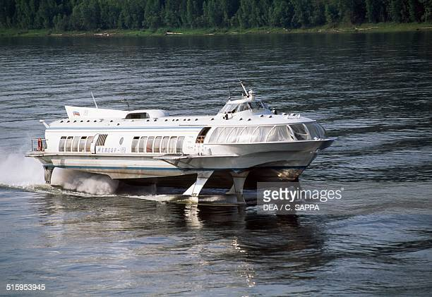 Hydrofoil on the Yenisei river Igarka Siberia Russia