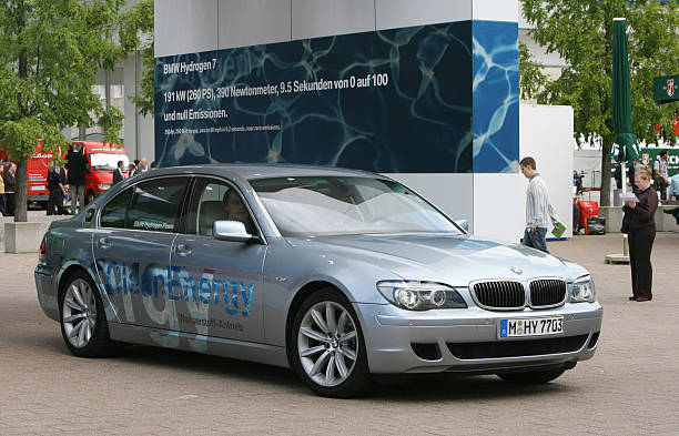 A Bmw Hydrogen 7 Car Is On Display At Th Pictures Getty Images