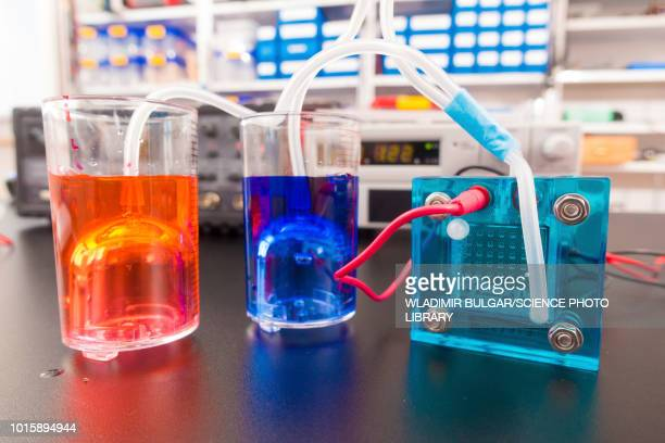 hydrogen fuel cell research - fuel cell stock pictures, royalty-free photos & images