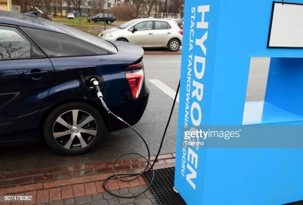 Wasserstoff Sie sich auf die Wasserstoff filling station