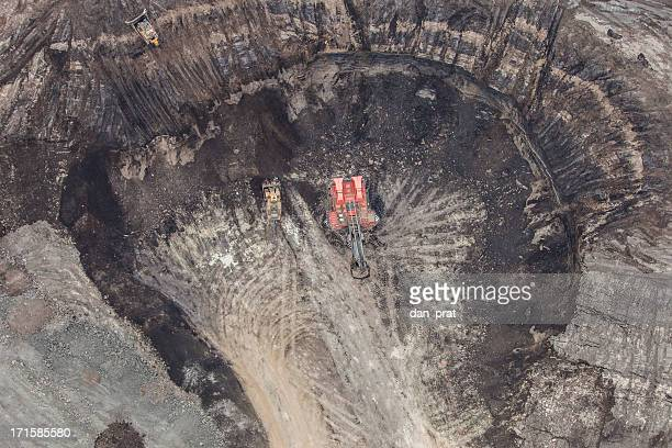 hydrolic mining excavator - oil sands stock pictures, royalty-free photos & images