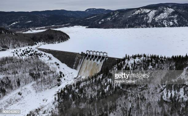 HydroQuébec's Bersimis2 dam in Baie Comeau Québec is pictured on Jan 20 2018 Massachusetts bids for lucrative longterm contracts from HydroQuébec a...