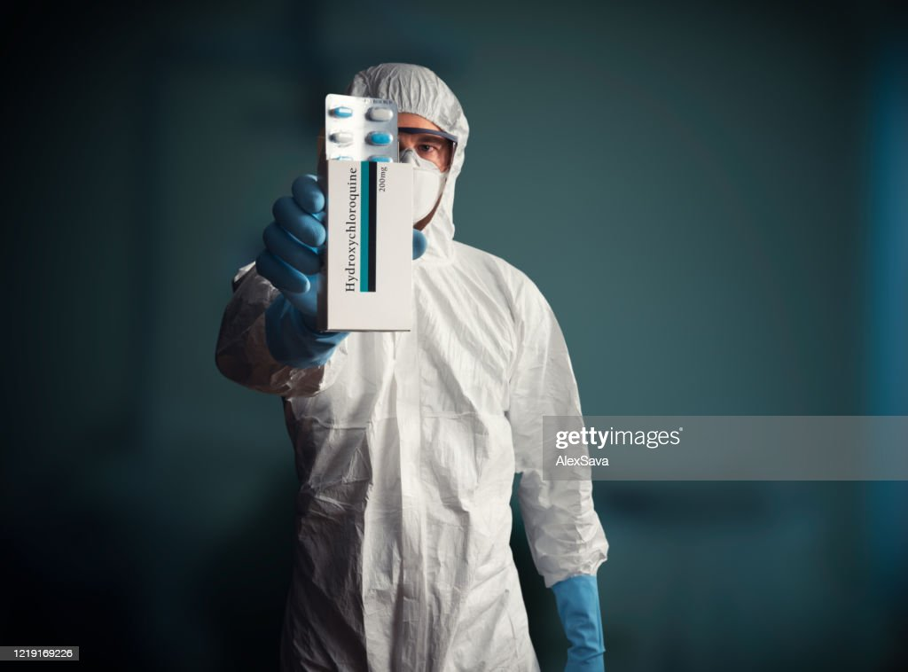 hydroxychloroquine drug tablets : Stock Photo