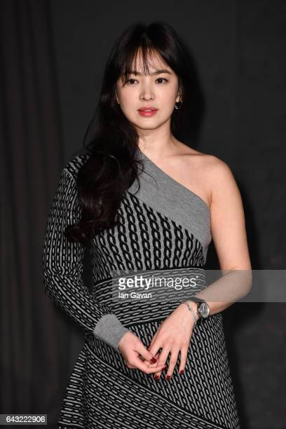 Hye Kyo Song attends the Burberry February 2017 Show during London Fashion Week February 2017 at Makers House on February 20 2017 in London England