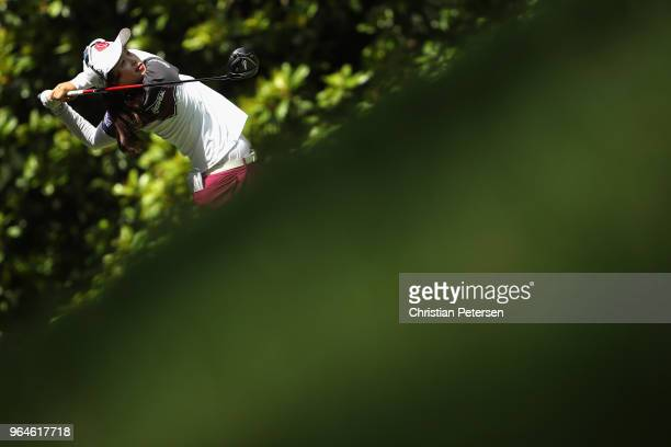 HyeJin Choi of South Korea plays a tee shot on the third hole during the first round of the 2018 US Women's Open at Shoal Creek on May 31 2018 in...