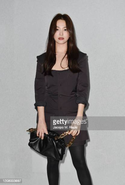 Hye-Kyo Song attends the Bottega Veneta fashion show during the Milano Fashion Week Fall / Winter 2020 - 2021 on February 22, 2020 in Milan, Italy.