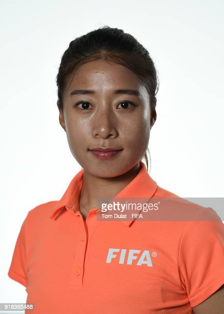 Hyeon Jeong Oh of South Korea poses for photographs during the FIFA Women's Referee Seminar on February 14 2018 in Doha Qatar