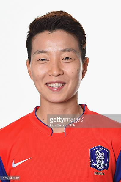 Hyeri Kim of Korea Republic poses during the FIFA Women's World Cup 2015 portrait session at Sheraton Le Centre on June 6 2015 in Montreal Canada