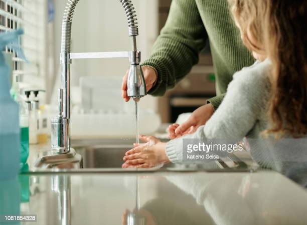hygiene comes first - sink stock pictures, royalty-free photos & images