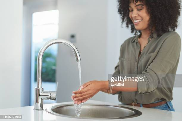 hygiene comes first - washing hands stock pictures, royalty-free photos & images