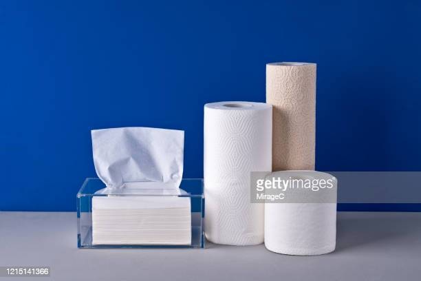 hygiene paper products collection - kitchen paper stock pictures, royalty-free photos & images