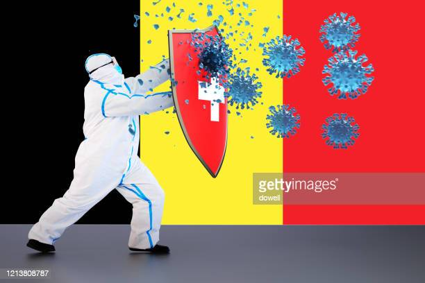 hygienic shield protecting from coronavirus,3d render - belgium stock pictures, royalty-free photos & images