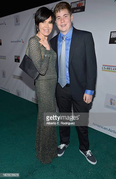 Hylda Queally Motion Picture agent at Creative Artists Agency and son Ryan attend the 8th Annual Oscar Wilde Honoring The Irish In Film PreAcademy...