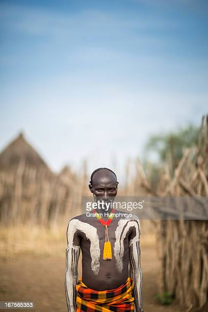 CONTENT] Hylo a Kara Tribe Elder poses for a portrait in Dus Village Omo Valley Ethiopia