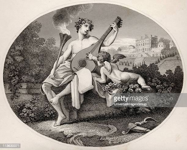 Hymen and Cupid From the original picture by Hogarth from The Works of Hogarth published London 1833