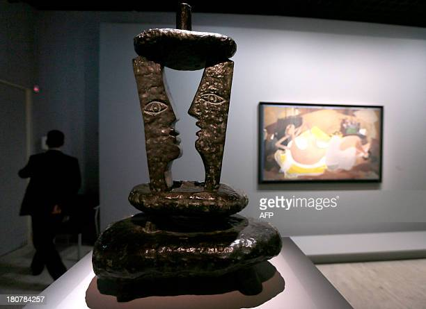Hymen and Nu couché artworks by French artist Georges Braque are displayed as part of the upcoming exhibition dedicated to his work on September 16...