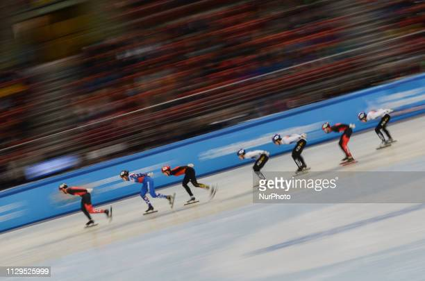 LIM Hyo Jun GIRARD Samuel LEE June SeoDUBOIS Steven ELISTRATOV Semen XU Hongzhi HWANG Dae Heon WATANABE Keita during finals of the men's 1500 m...
