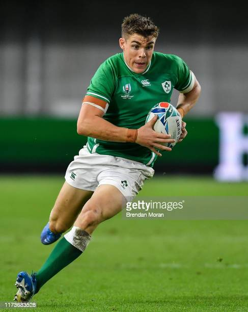 Hyogo , Japan - 3 October 2019; Garry Ringrose of Ireland during the 2019 Rugby World Cup Pool A match between Ireland and Russia at the Kobe Misaki...