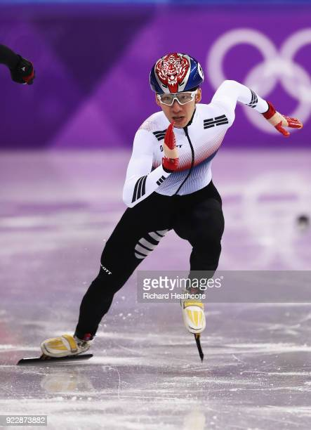 Hyojun Lim of Korea skates during his Men's 500m Short Track Speed Skating Quarter Final on day thirteen of the PyeongChang 2018 Winter Olympic Games...
