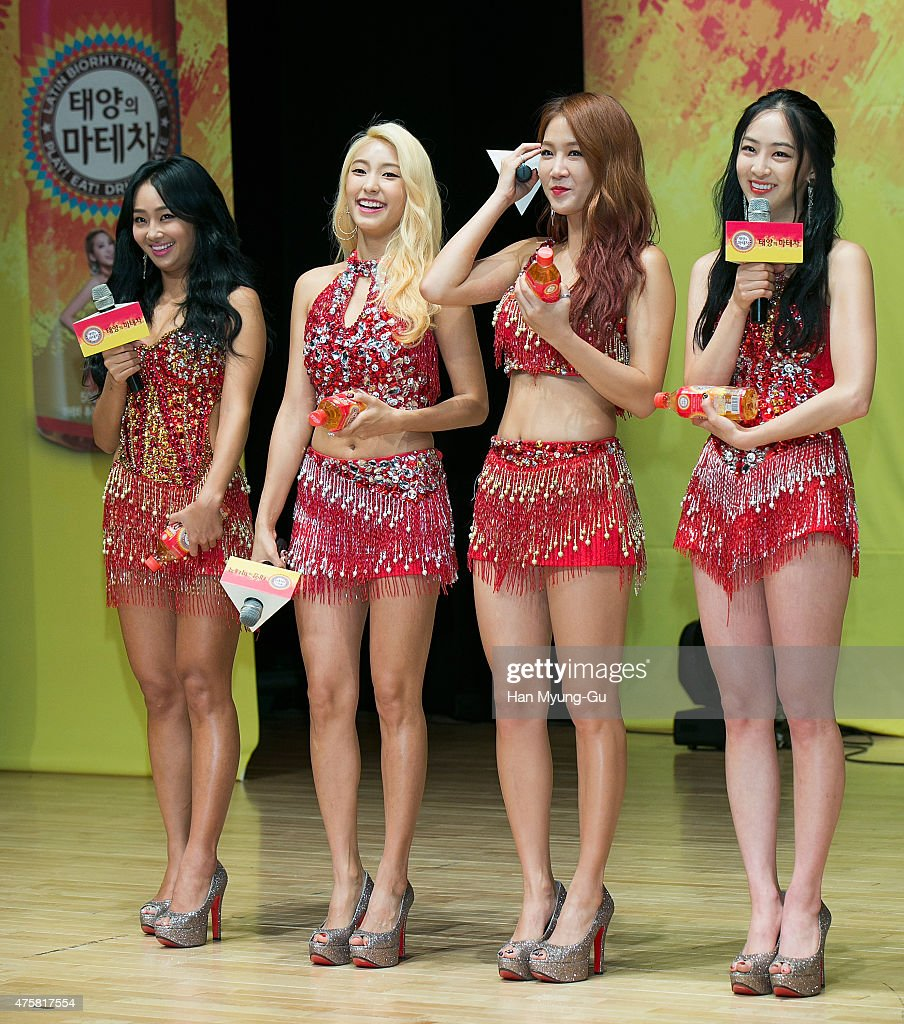 Hyolyn (Hyorin), Bora, Soyou and Dasom of South Korean girl group SISTAR attend Coca Cola - Mate - Mate Body Show Time with SISTAR on June 4, 2015 in Seoul, South Korea.