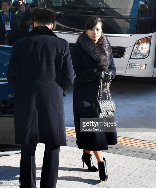 Hyon Song Wol head of North Korea's Samjiyon Orchestra arrives at a concert hall in Gangneung South Korea on Feb 7 2018 ==Kyodo