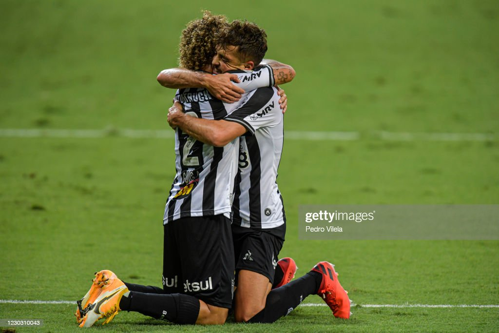 Hyoran Of Atletico Mg Celebrates With Guga After Scoring The First News Photo Getty Images