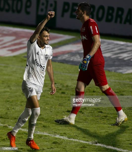 Hyoran of Atletico Mineiro celebrates after scoring a second goal of his team during a match between Red Bull Bragantino and Atletico Mineiro as part...