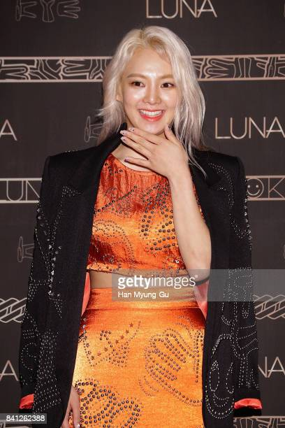 Hyoyeon of Girls' Generation attends the LUNA 'LUNA X KYE' Collaboration Collection Photocall on August 31 2017 in Seoul South Korea