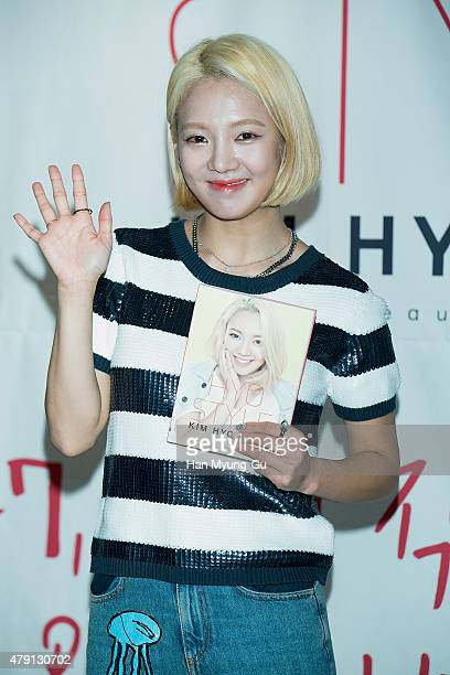 Hyoyeon of Girls' Generation attends the release event for her fashion beauty and life style book HYO STYLE on July 1 2015 in Seoul South Korea