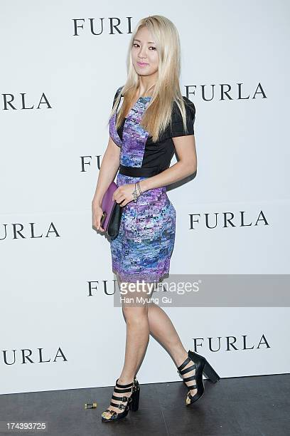 Hyoyeon of South Korean girl group Girls' Generation attends during a promotional event for the 'Furla' 2013 F/W Presentation at Cais Gallery on July...
