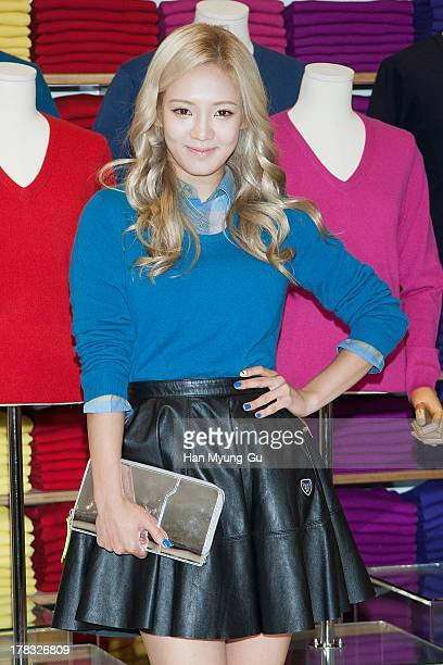 Hyoyeon of South Korean girl group Girls' Generation attends during the 'Uniqlo' 2013 F/W Silk/Cashmere Project press event at Gangnam Uniqlo Store...