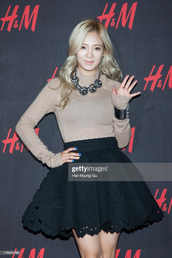 Hyoyeon of South Korean girl group Girls' Generation attends the H&M Autumn Collection Pre-Shopping Party at H&M Gangnam Store on September 3, 2013 in Seoul, South Korea.