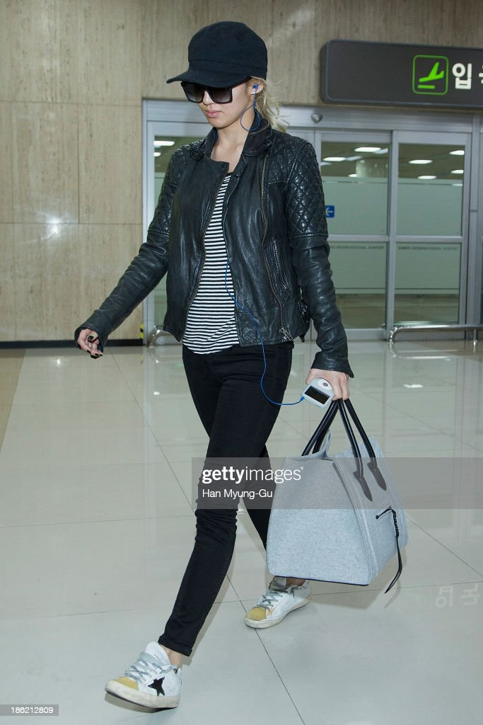 Celebrity Sightings At Gimpo Airport