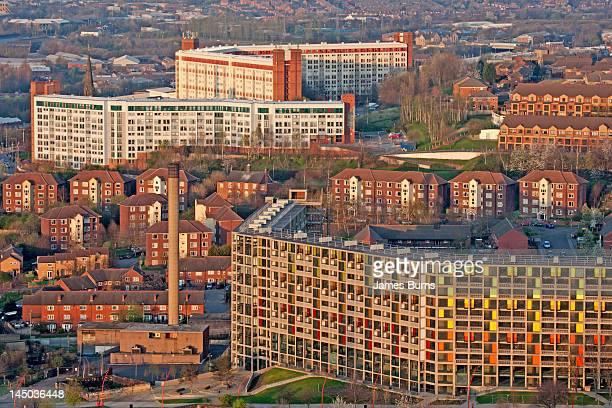 hype park and park hill flats - sheffield fotografías e imágenes de stock