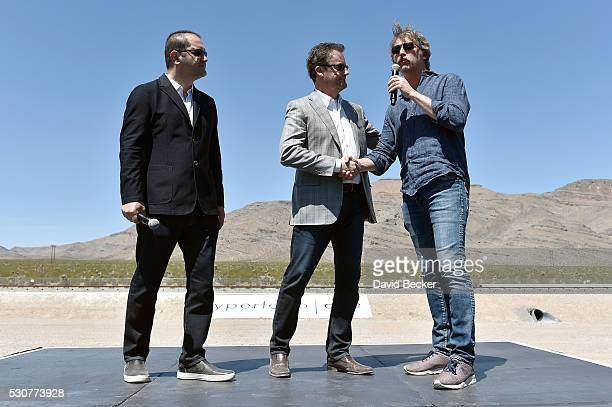 Hyperloop One CoFounder Executive Chairman Shervin Pishevar Hyperloop One Chief Executive Officer Rob Lloyd and CoFounder Chief Technology Officer...