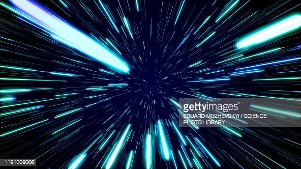 hyperspace jump, conceptual illustration - lighting equipment stock pictures, royalty-free photos & images