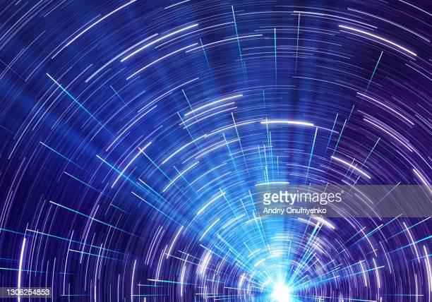hyperspace tunnel timelapse - 宇宙・天文 ストックフォトと画像