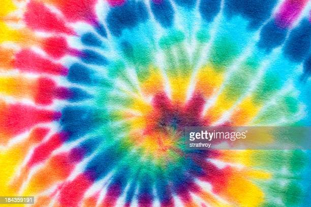 hypnotic tie dyed spiral - tie dye stock pictures, royalty-free photos & images