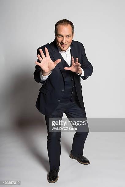 Hypnotist Messmer alias Eric Normandin poses for Paris Match on October 26 2015 in Paris France