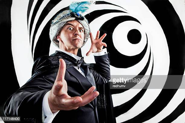 hypnotist mind control - illusion stock pictures, royalty-free photos & images