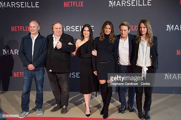 Hyppolite Girardot Geraldine Pailhas Gerard Depardieu Nadia Fares Benoit Magimel and Stephane Caillard attend the 'Marseille' Netflix TV Serie World...