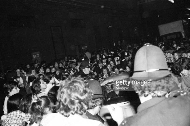 Hysterical fans attend a Bay City Rollers concert in Victoria London Screaming teenagers caused thousands of pounds worth of damage and the show had...