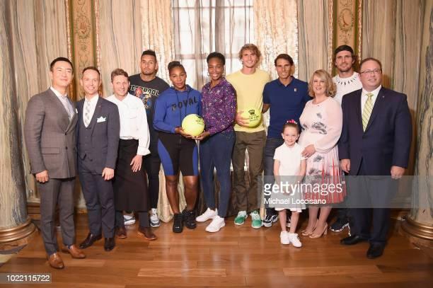 Hyukbum Kwon a guest Cedric Tovar Nick Kyrgios Serena Williams Venus Williams Alexander Zverev Rafael Nadal Becky Hubbard Mischa Zverrv and David...