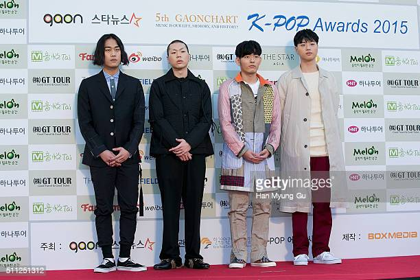 Hyukoh attends the 5th Gaon Chart K-Pop Awards on February 17, 2016 in Seoul, South Korea.