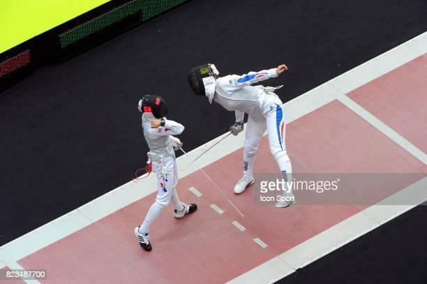 Hyun Hee NAM Fleuret / Corinne MAITREJEAN Quart de Finale Fleuret Championnats du Monde d Escrime 2010 Paris