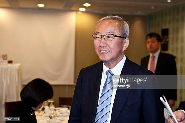 Hyun Oh Seok South Korea's finance minister arrives for a news conference at the Seoul Foreign Correspondents' Club in Seoul South Korea on Monday...