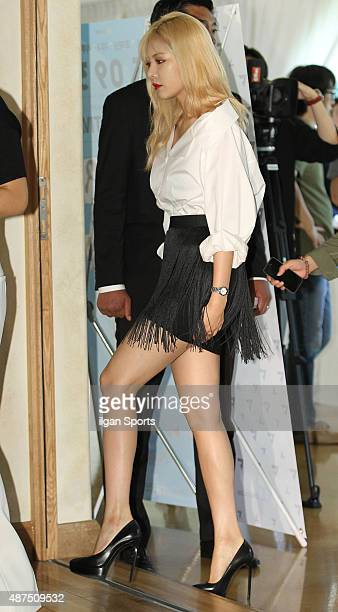 HyunA of 4minute attends the 'Cube Festival' press conference at Raum Arts Center on September 1 2015 in Seoul South Korea