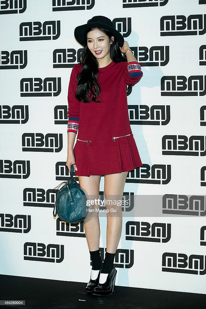 Hyun-A of South Korean girl group 4minute attends the after party for Marc By Marc Jacobs - Fall 2014 Fashion Preview on August 27, 2014 in Seoul, South Korea